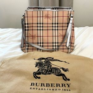 Authentic Burberry Tote / Shoulder Bag - Roomy!